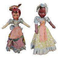 Joao Perotti Topsy Turvy 1930's Cloth Doll Original Labels