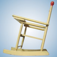 Vintage Handmade Wood Doll Rocker High Chair