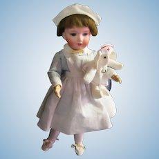 "Antique Nurse Doll Armand Marseille 14"" 390n Bisque Head"
