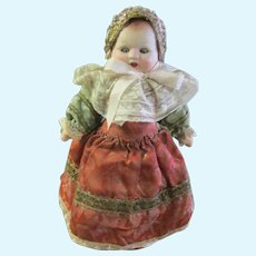 1880 French Paper Mache & Cloth Doll W / Label