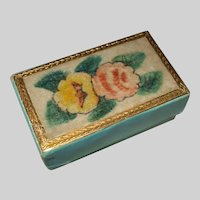 A Sweet Little 19th Century Theorem Work Sewing Box