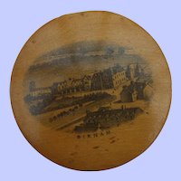 Interesting Mauchline Pincushion C1880 With Retailers Mark