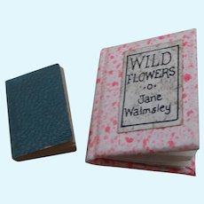 Two Very Sweet Miniature Vintage Books For A Dolls House