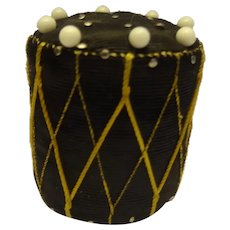 An  Unusual And Attractive Early 19th Century Pincushion In The Form Of A Military Drum