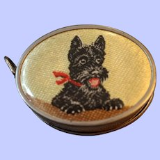 A Very Sweet Tape Measure With Scottie Dog C1920's