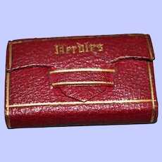 A Fine 19th Century Red Leather Needle Packet Holder