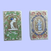 2 Early 19th Century Needle Packet Boxes