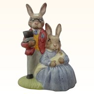 Royal Doulton Bunnykins DB68 Father, Mother and Victoria Bunnykins