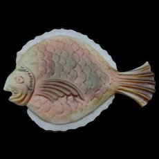 A Rare and Unusual Mother of Pearl 19th Century Fish Thread Winder
