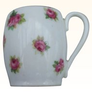 A Good Quality Miniature Doulton Mug With Floral Decoration C1920's.