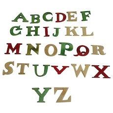 19th Century Child's Bone (bovine) Alphabet Teaching Aid