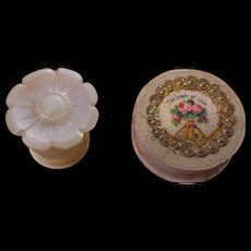 Useful 19th-Century Mother of Pearl Waxer and Bead Box