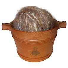 A Wonderful 19th Century Wooden Scottish Luggie/Wool Holder         **  Item on hold for JS +++