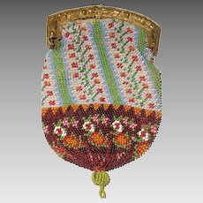 A Sweet  19th Century Beaded Coin Purse