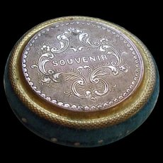 Attractive 19th Century French Gilt Metal Pincushion