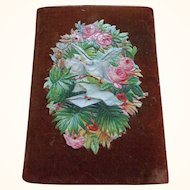 Charming Needlecase with 19th Century Scraps