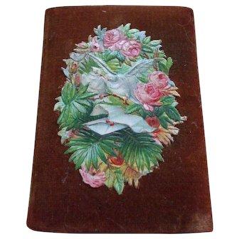 Charming Needlecase with 19th Century Scraps