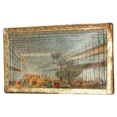 Rare Crystal Palace Needle Packet Box Circa 1851