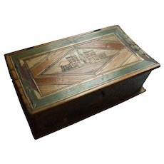 Napoleonic Prisoner of War Work Straw Work Box Circa 1800