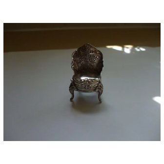 A Sweet Miniature Silver Chair Hallmarked For London 1900