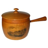 Useful 19th Century Mauchline Saucepan /Button Box