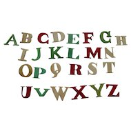 Delightful 19th Century Child's Educational Alphabet + Box