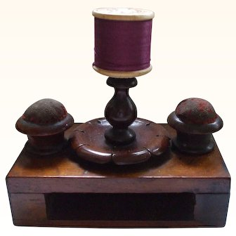 Sweet and Useful 19th Century Small Wooden Sewing Stand