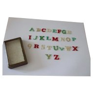 A Delightful and Useful 19th Century Childs Bone (Bovine) Alphabet Teaching Aid