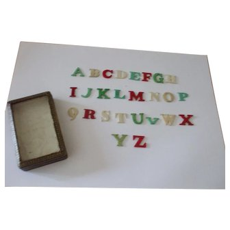 A Delightful and Useful 19th Century Childs Bone (Bovine) Alphabet Teaching Aid