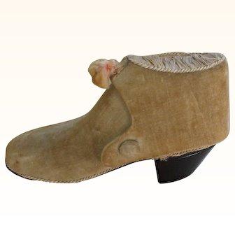 Unusual Victorian Velvet Boot Etui