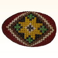 An Attractive Beaded Darning Egg