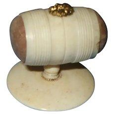 A Bone (Bovine) Pincushion On Stand C1850