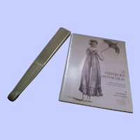 An Elegant and Slender Late 18th/Early 19th Century Fan + Book of Regency Frivoloties
