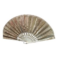 A Pretty Gold Sequin Fan Circa 1910