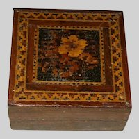 A Fine  and Attractive 19th Century Tunbridge Ware Trinket Box