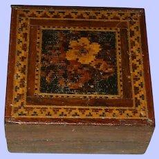 A Fine  and Attractive 19th Century Tunbridge Ware Trinket Box
