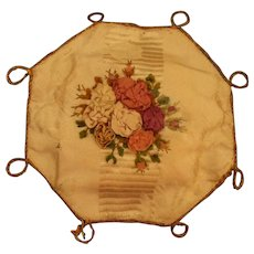 A Pretty Early 19th Century Hexagonal Ribbonwork Pincushion