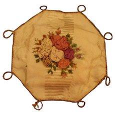 A Pretty Early 19th Century Hexagonal Ribbonwork Pincushion