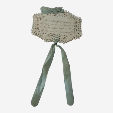 A Wonderful Needlecase With Hand Written Poem C1850