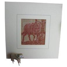 18th Century Toile De Nantes Fabric Of A Sheep