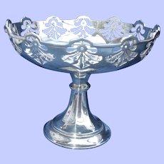 A Fine George V  Hallmarked Silver Bonbon Dish Birmingham 1917 - Gorham Manufacturing