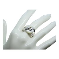 Sterling Silver & Mother of Pearl Ring~ Size 7.5