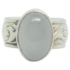 Sterling Chris Dungan Moonstone Ring~ Size 6.25