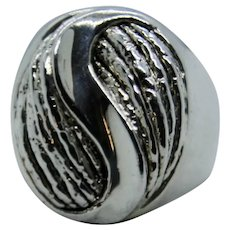 Sterling Or Paz Large Knot Ring~ Size 10