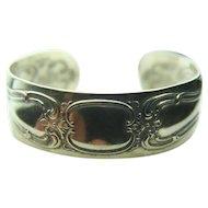 Gorham Sterling Silver Spoon Cuff Bracelet