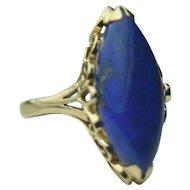 Vintage 14k Solid Gold & Blue Lapis Fine Ring
