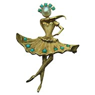 Vintage CHERNY 18k Solid Gold Dancing Ballerina - Legs Move! Excellent Condition