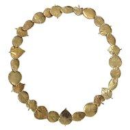 Aaron Henry Arbor Leaf 18k & 19k Gold Necklace~ GUMPS San Francisco