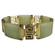 14k Solid Yellow Gold & Jade Bracelet