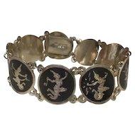 Vintage Sterling Silver Siam Bracelet